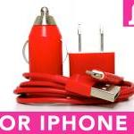 Iphoen 5 Charger (red) - F..