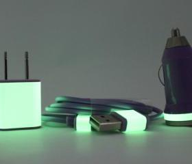 Glow in the Dark Purple iPhone Charger