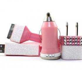 Glamour Pink iPhone Charger - Extra Long Cable